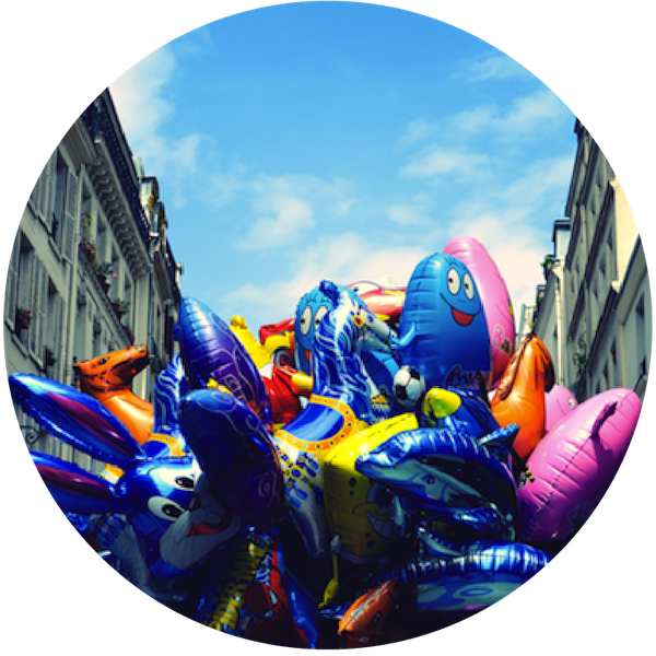 Montorgeuil, Saturday, Summer, Balloons, Paris